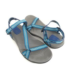 Teva Sandals Blue Strappy Comfort Hiking Shoes